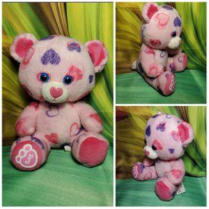 "7"" Build a Bear Pink Hearts & Hugs Smallfry Buddies Valentine Plush BAB Teddy for Sale in Dale, TX"