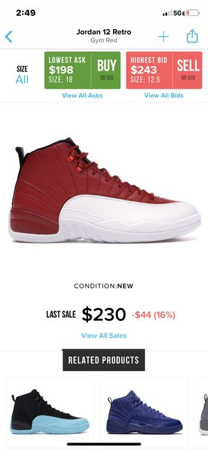 looking for Retro 12 & 11s In size 10 or 10.5 Hmu for Sale in Nashville, TN