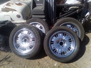 20in chrome rims set of 4 with tires for Sale in Oakland, CA