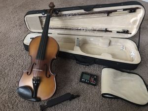 """Violin 🎻 """"Cecilio """" _ Solidwood Ebony Fitted Violin with D'Addario Prelude Strings, Size 4/4 (Full Size) for Sale in St. Petersburg, FL"""