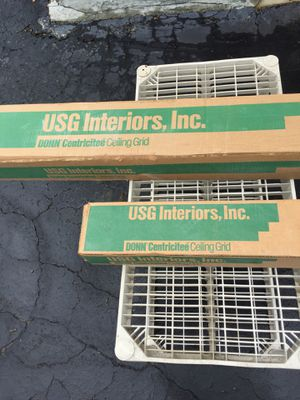 USG ceiling grid , Mains, 2' & 4' t's , and L's for Sale in Freedom, PA