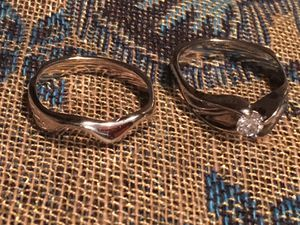 14k White Gold Custom Diamond Engagement/Wedding Ring Set for Sale in Seattle, WA