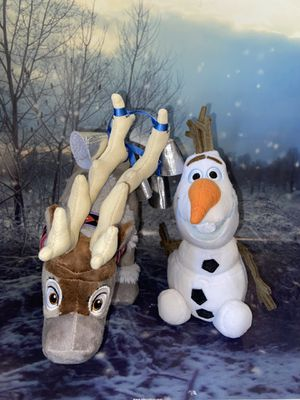 Disney Frozen Sven and Olaf Plushies for Sale in Bellflower, CA