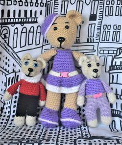 Crochet stuffed bears for Sale in Auburn,  WA