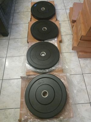 Olympic bumper plates for Sale in Huntington Park, CA