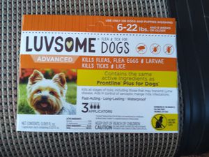 Luvsome flea/tick tx dogs 6-22 lbs for Sale in Hollins, VA