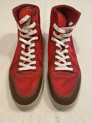 Nylon Gucci Red High Tops for Sale in Tempe, AZ