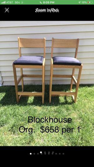 Blockhouse bar chairs for Sale in Alexandria, VA