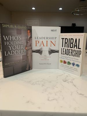 "Samuel Chan's books bundle with bonus book ""tribal leadership"" for Sale in Marrero, LA"