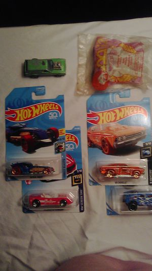 6 Hot Wheels, New & old, 3 are Treasure Hunts, 3 hard to find for Sale in Dallas, TX