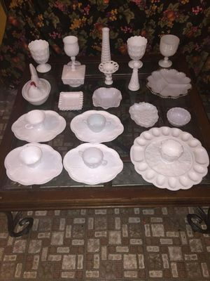 Vintage Milk Glass Collection for Sale in Houston, TX