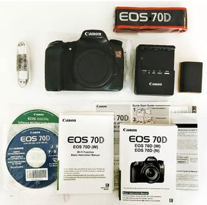 Canon EOS 70D 20.2MP Digital SLR Camera - Black (Kit w/ EF-S IS STM 18-55mm... for Sale in Sterling Heights, MI