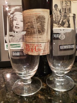Two WW2 WWII German wine glasses for Sale in Chicago, IL