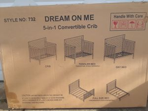 new baby crib white 5 in 1 cuna nueva para bebe 5 en 1 blanca for Sale in Takoma Park, MD