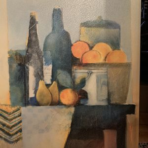 Acrilic Still Life painting, Fruits and Wine scene. Perfect Kitchen & Great Room Decor. 31in Width By 39in Height $65 or best offer for Sale in Moonachie, NJ