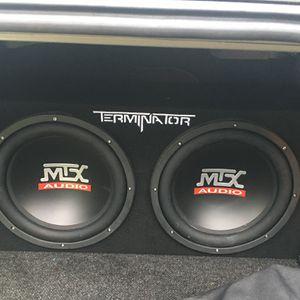 MTX Terminator Dual 12 SubBox and MTX Amplifier for Sale in Franklin, VA