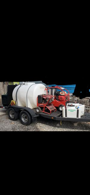 Hot/Cold 4000 psi PowerWasher w/trailer for Sale in Braintree, MA