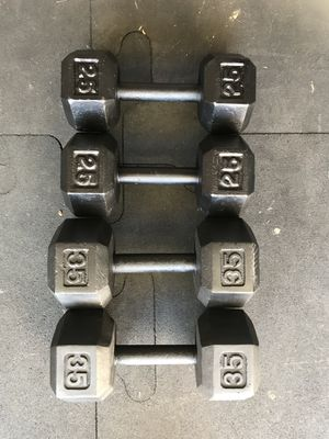 Hex Dumbbells (2x25s 2x35s) for $80 Firm!!! for Sale in Burbank, CA