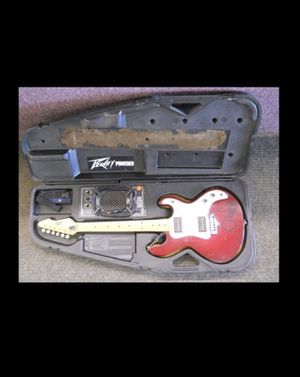 VINTAGE PEAVEY T-15 ELECTRIC GUITAR WITH AMPED HARD CASE MADE IN USA for Sale in Columbus, OH