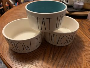 Rae Dunn Pet Food Bowls for Sale in Phoenix, AZ