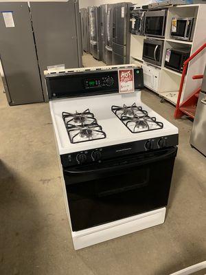 On Sale GE Gas Stove Oven Black & White 4 Burner #1324 for Sale in Huntington, NY