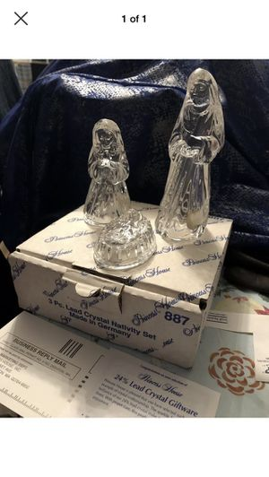 Princess House Nativity Lead Crystal Jesus Mary Joseph Christmas 887 Germany NEW holy family for Sale in Neosho, MO