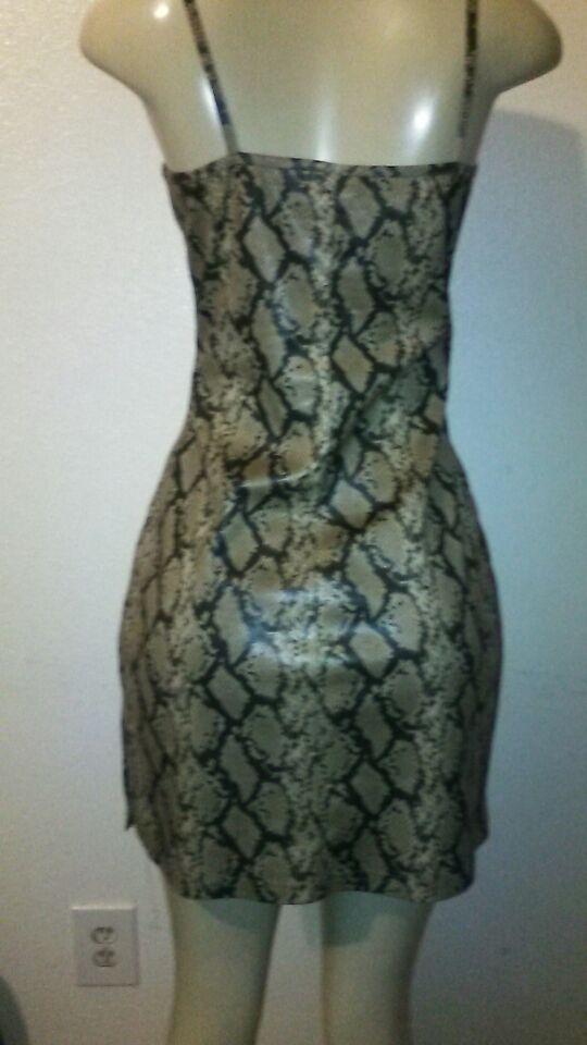 Shiny snake skin dress