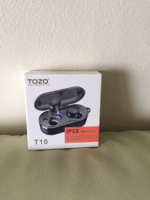 T10 Bluetooth 5.0 Wireless Earbuds with Wireless Charging Case IPX8 Waterproof TWS Stereo Headphones in Ear Built in Mic Headset Premium Sound with D for Sale in San Francisco, CA
