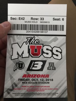 Utah football ticket for Sale in Salt Lake City, UT