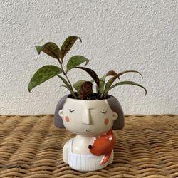 "Black Pagoda w/ 2"" Resin Girl Planter for Sale in Golden,  CO"