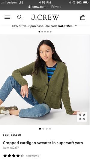 J. Crew Women's cardigan, size M, new with tags for Sale in Norwalk, CT