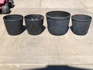 Set of 4 flower pots for Sale in Chandler, AZ