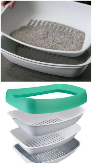 New in box LUUP 3 trays cat kitten kitty pet litter box potty training system pan for Sale in Pico Rivera, CA