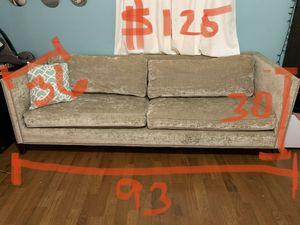Tan Nailhead Sofa for Sale in Newark, NJ