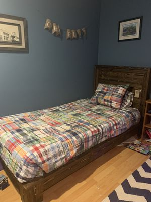 Twin bed. Solid wood. Handmade. Low to the ground. Easy to put back together. for Sale in Palm Beach Gardens, FL