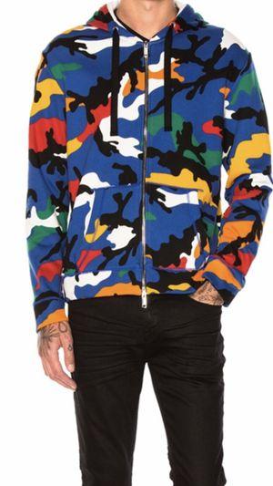 NWT Valentino Garavini Multi Color Camo Sweater Jacket Hoodie $1350 Bape for Sale in Union City, CA
