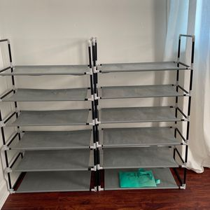 2 Shoe Racks Fits 18 On Each 24 If Small Child Shoes for Sale in Washington, DC