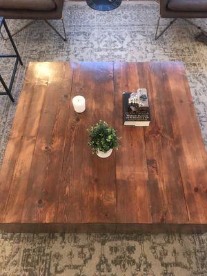 Modern Wood block coffee table for Sale in Los Angeles, CA