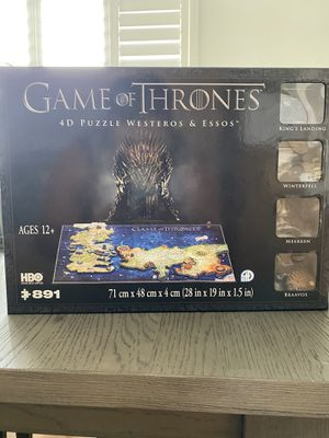 Game of thrones 3D puzzle for Sale in Chula Vista, CA