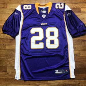 Adrian Peterson Minnesota Vikings Authentic NFL Reebok Vintage Retro Throwback Jersey 48 Medium for Sale in Toms River, NJ
