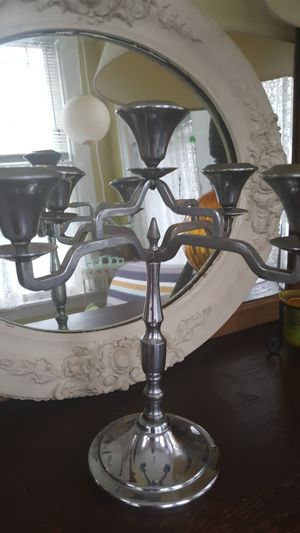 Chrome art deco candelabra farberware brooklyn for Sale in Chicago, IL