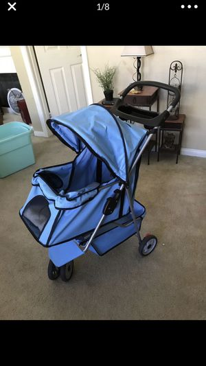 Brand New Large Dog Stroller With Large Under Basket, Zip Front and 2 Cupholders for Sale in Wildomar, CA