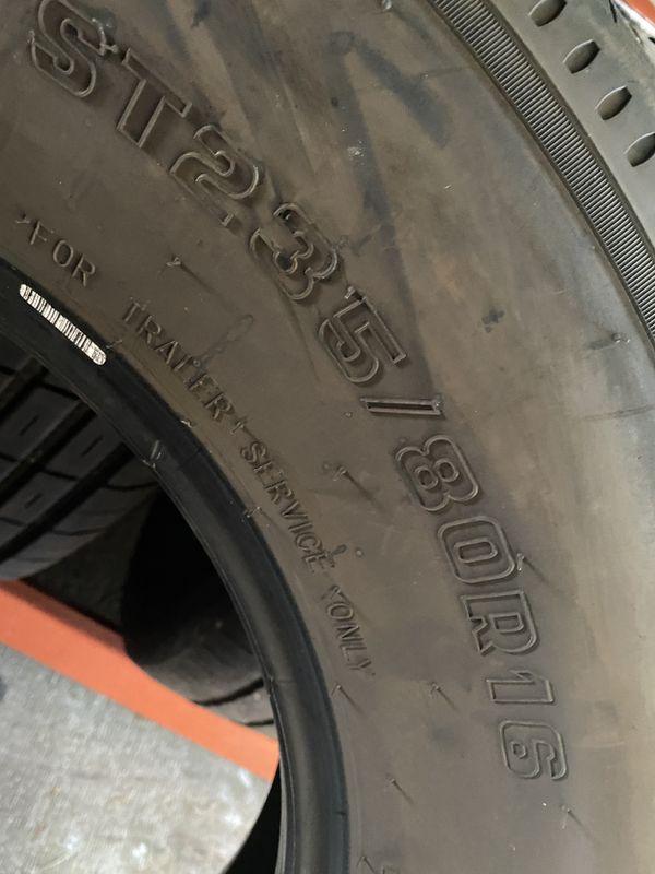 ST235/80/16 Trailer (2 Tires) Like New $100.00/ Both