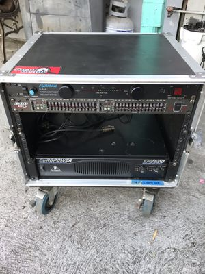 Power amp eq Furman power conditioner amp rack with wheels Dj pa pro audio for Sale in Los Angeles, CA