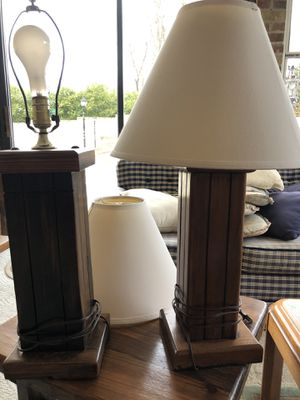 Wood lamps for Sale in Gambrills, MD