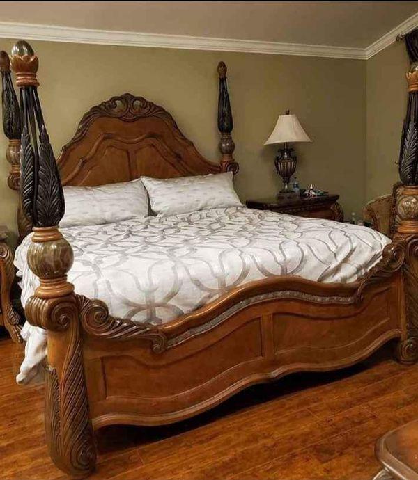 Gorgeous Queen Size Aico Michael Amini Eden Bedroom Set ...
