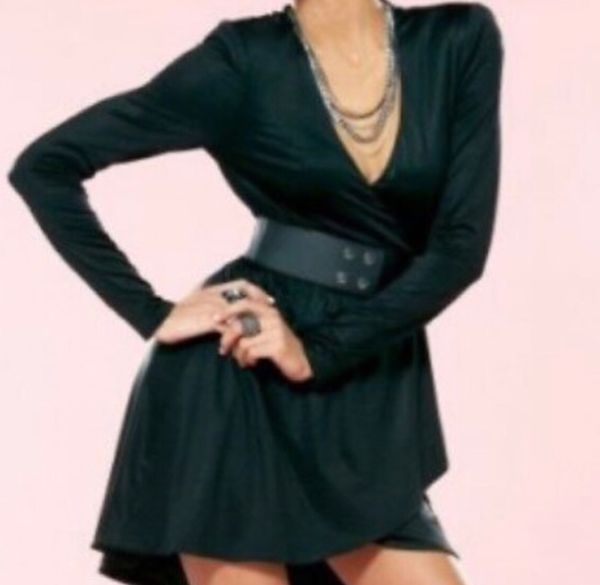Bebe Kardashians Black Wrap Dress