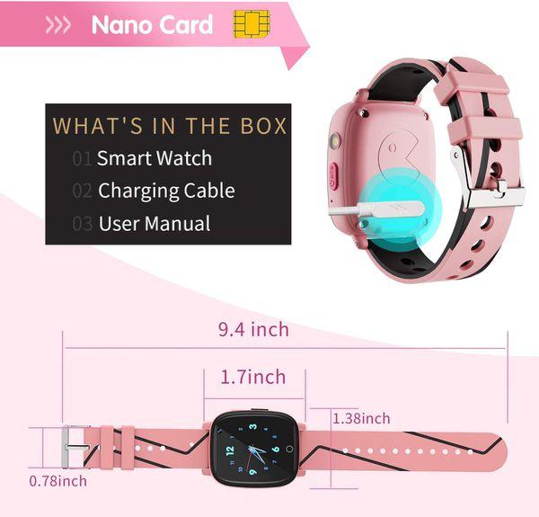 Kids Smart Watch for Boys Girls – Kids Smartwatch with Call 7 Games Music Player Camera SOS Alarm Clock Calculator 12/24 hr Touch Screen Children Sma