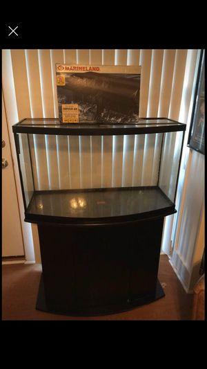 55 gallon bow front fish tank aquarium for Sale in Annandale, VA
