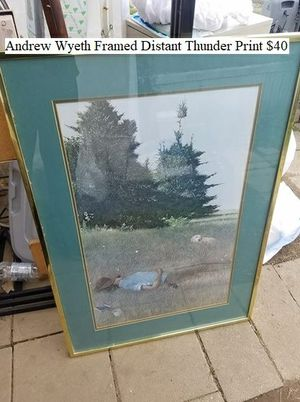 Andrew Wyeth Framed Distant Thunder Print $40 for Sale in Dresden, OH